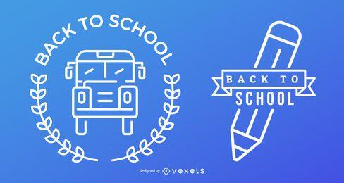 Azul e branco de volta ao conjunto da escola