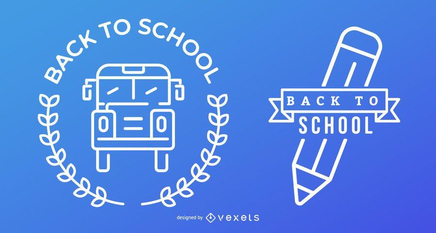 Conjunto de regreso a la escuela azul y blanco