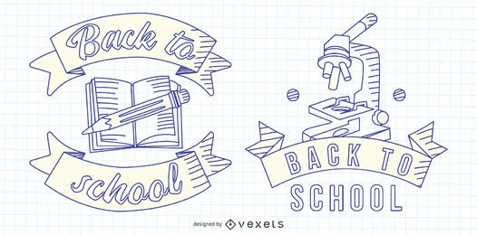 Back to School Line Emblem