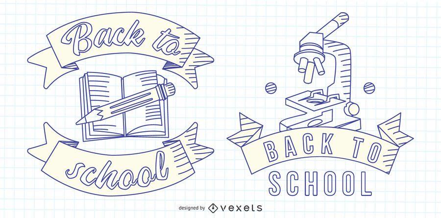 Back to School Line Emblem