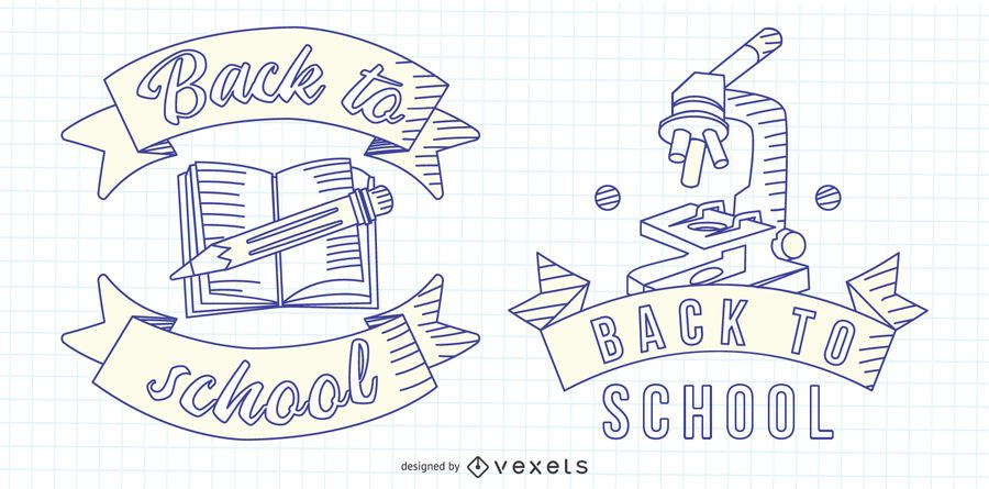 De volta ao emblema da linha da escola