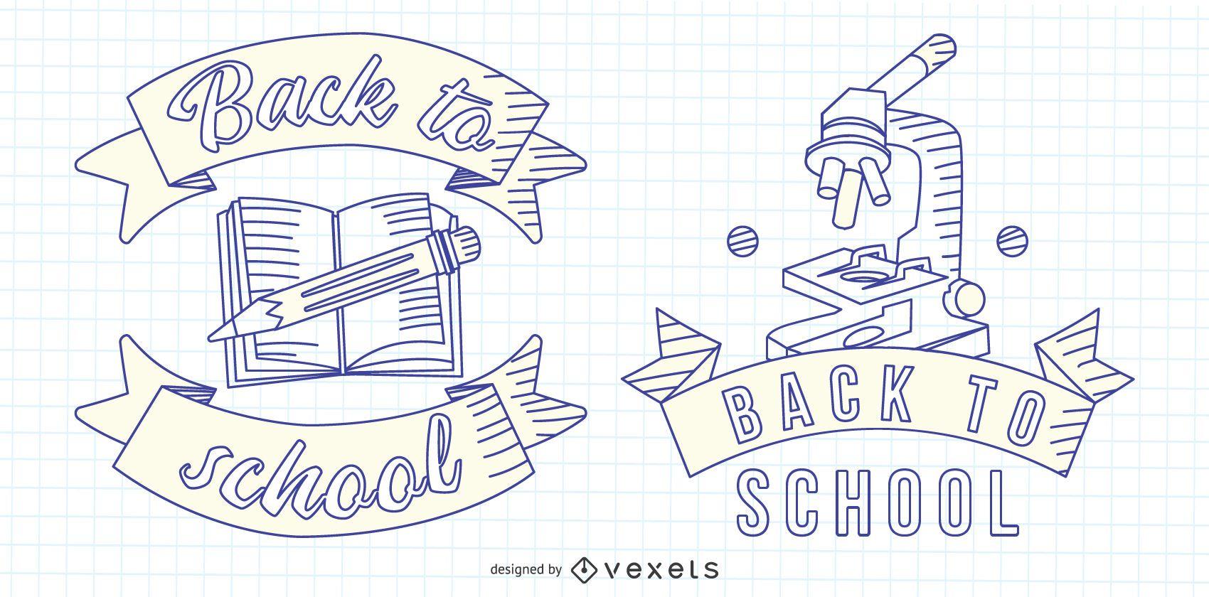 Emblema de la l?nea de regreso a la escuela