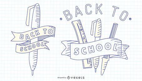 Back To School Stroke Set