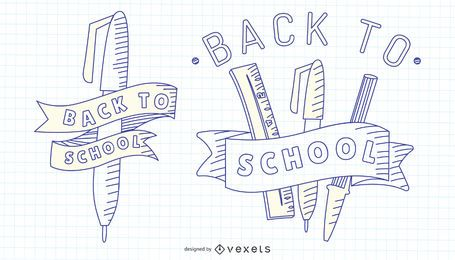 Zurück zu Schule-Anschlagsatz