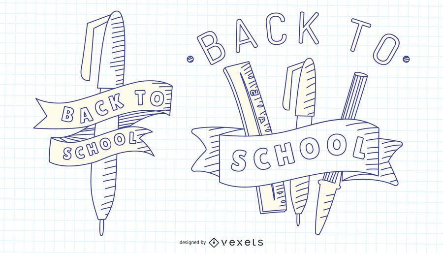 Conjunto de trazo de regreso a la escuela