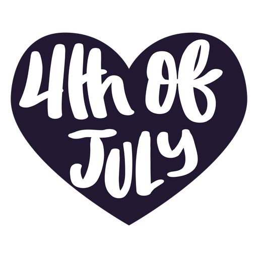 4th of july heart sticker Transparent PNG