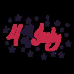 4th of july star sticker