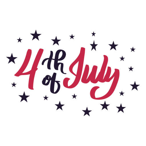 4th of july star sticker Transparent PNG
