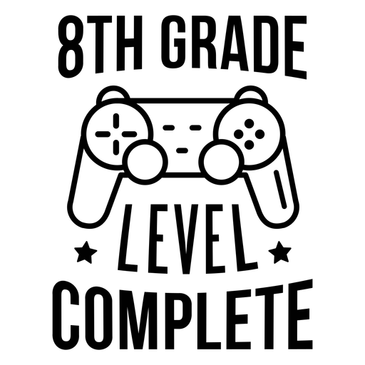 Kompletter Gamepad-Sternaufkleber der 8. Klasse Transparent PNG