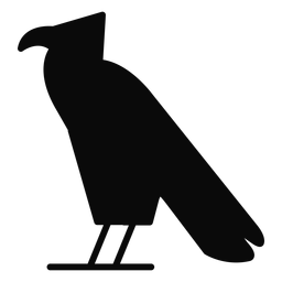 Uma silhueta de águia de pássaro corvo carrion