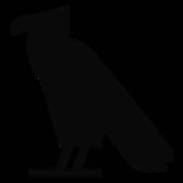Una silueta del águila del pájaro del cuervo de la carroña