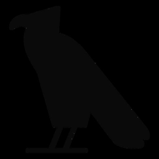 Uma silhueta de águia de pássaro corvo carrion Transparent PNG