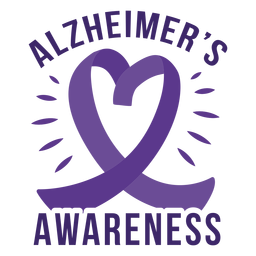 Alzheimer's awareness heart ribbon badge sticker