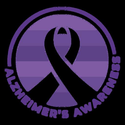 Alzheimer's awareness ribbon badge sticker