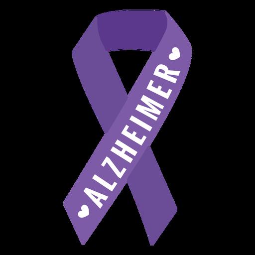 Alzheimer-Band-Herzaufkleber Transparent PNG