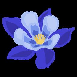 Aquilegia flower stem bud petal flat