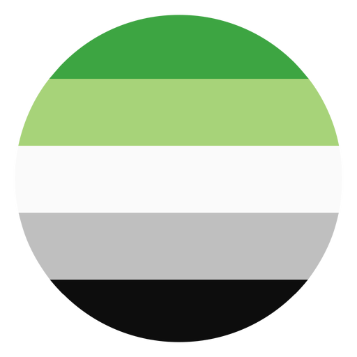 Aromantic agender circle stripe flat Transparent PNG