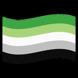 Aromantic agender bandera raya plana