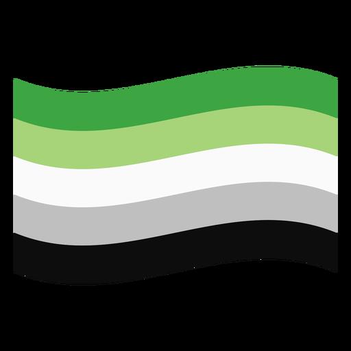 Aromantic agender flag stripe flat Transparent PNG
