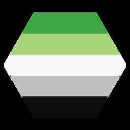 Raya hexagonal de aroma aromático plana