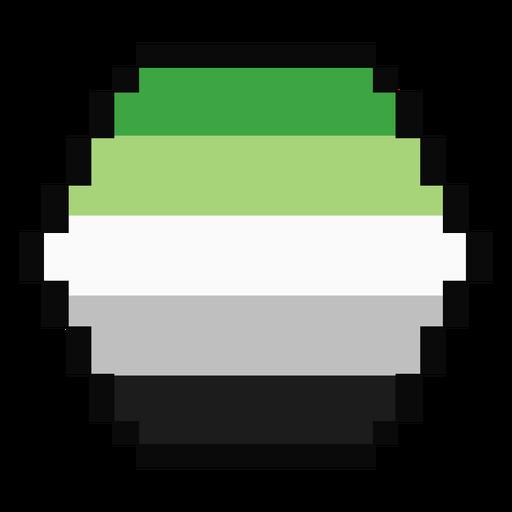 Aromantic Agender Sechseck Streifen Pixel flach Transparent PNG