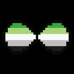 Aromantic agender infinito listra pixel plano