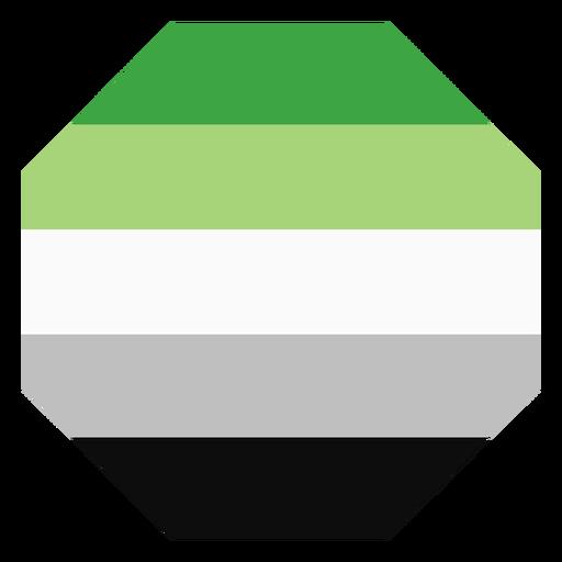 Aromantic agender octagon stripe flat Transparent PNG