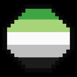 Aromantic Agender Achteck Streifen Pixel flach