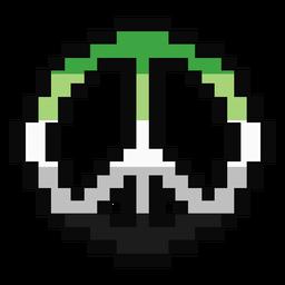 Aromantic Agender Pazifik Streifen Pixel flach
