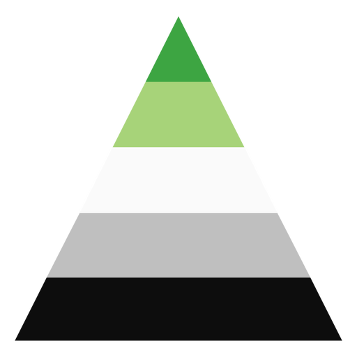 Aromantic agender triangle stripe flat Transparent PNG