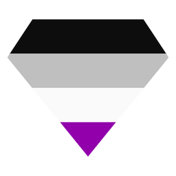 Asexual brilliant diamond stripe flat