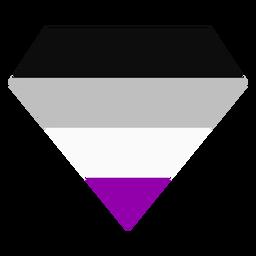 Tarja de diamante brilhante assexuada plana