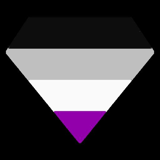 Asexual brilliant diamond stripe flat Transparent PNG