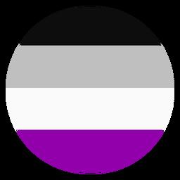 Círculo assexuado com faixa plana