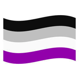 Asexual flag stripe flat