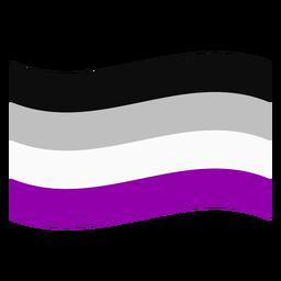 Bandera de la raya asexuales plana