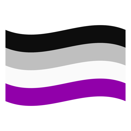 Asexual flag stripe flat Transparent PNG