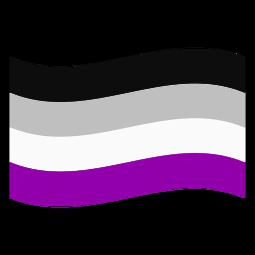 Bandera de la raya asexuales plana Transparent PNG