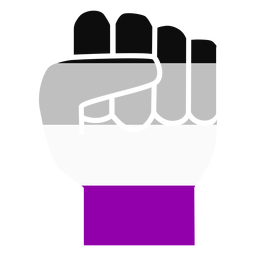 Asexual hand finger fist stripe flat
