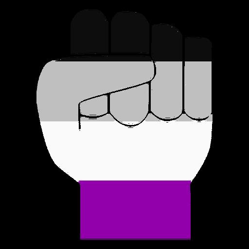 Assexual mão dedo punho listra plana Transparent PNG