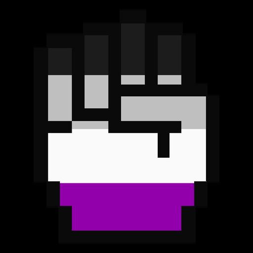 Assexual mão dedo punho listra pixel plana Transparent PNG
