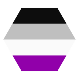 Asexual hexagon stripe flat