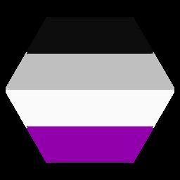 Asexuelle Sechseck Streifen flach