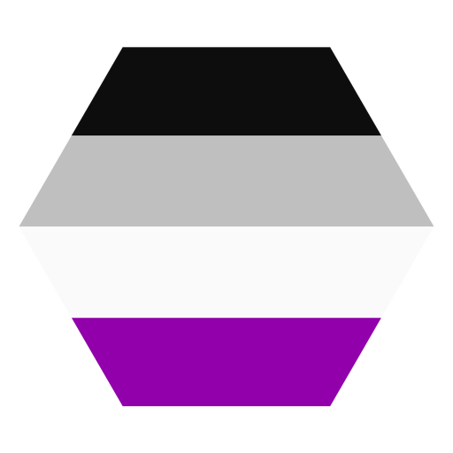 Asexual hexagon stripe flat Transparent PNG