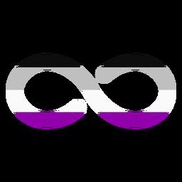 Asexuelle Unendlichkeit Streifen flach
