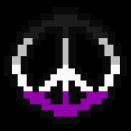Asexuelle Pazifik Streifen Pixel flach