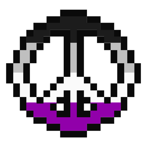 Asexual pacific stripe pixel flat