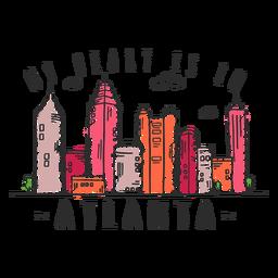 Autocolante de skyline de Atlanta