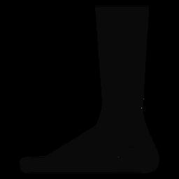 Silhueta detalhada do pé do pé do pé de B