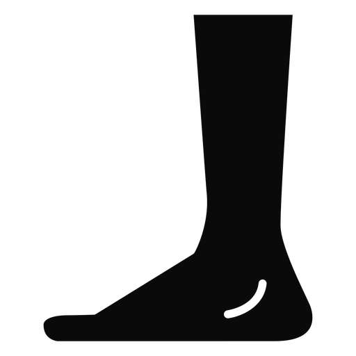 B leg foot heel detailed silhouette Transparent PNG
